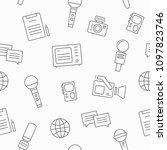 journalism seamless pattern... | Shutterstock .eps vector #1097823746