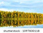 illuminated trees and sun are... | Shutterstock . vector #1097830118