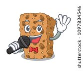 singing granola bar mascot... | Shutterstock .eps vector #1097834546