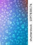 light pink  blue vertical... | Shutterstock . vector #1097838176