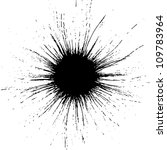 Grunge droplets. ink splash - stock photo