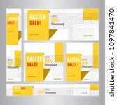 easter sale web banner set ... | Shutterstock .eps vector #1097841470