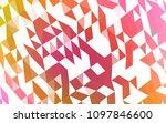 light pink  yellow vector low... | Shutterstock .eps vector #1097846600