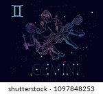 gemini zodiac sign and...   Shutterstock .eps vector #1097848253