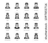 doctors professions flat glyph...   Shutterstock .eps vector #1097853716