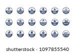allergens  ingredient label... | Shutterstock .eps vector #1097855540
