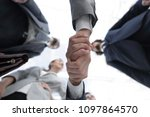 bottom view.business handshake | Shutterstock . vector #1097864570