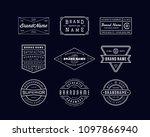 vintage logo insignia   badge.... | Shutterstock .eps vector #1097866940
