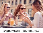 group of friends having a... | Shutterstock . vector #1097868269