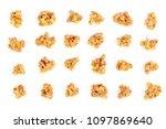 oat granola breakfast cereal... | Shutterstock . vector #1097869640