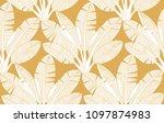 palms  leaves pattern. banana... | Shutterstock .eps vector #1097874983