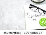 customer support service... | Shutterstock . vector #1097880884