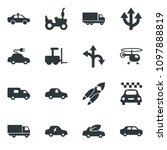 black vector icon set tractor... | Shutterstock .eps vector #1097888819