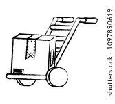 handcart icon image | Shutterstock .eps vector #1097890619