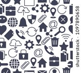 web and computer basic icons....   Shutterstock .eps vector #1097890658