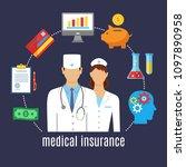 health insurance. healthcare ... | Shutterstock .eps vector #1097890958