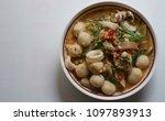 sukiyaki noodles  dried squid ... | Shutterstock . vector #1097893913