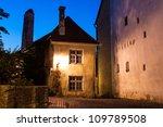 Night old town of Tallinn, Estonia - stock photo