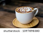 backgrounds of latte coffee. | Shutterstock . vector #1097898380