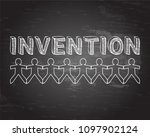 invention text hand drawn with... | Shutterstock .eps vector #1097902124