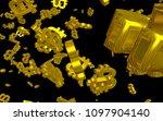 digital currency symbol bitcoin....   Shutterstock . vector #1097904140