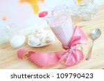 fresh raspberry smoothie with... | Shutterstock . vector #109790423