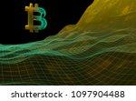 digital currency symbol bitcoin ...   Shutterstock . vector #1097904488