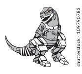 robot dino | Shutterstock .eps vector #109790783