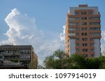the modern multi storey... | Shutterstock . vector #1097914019