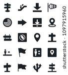 set of vector isolated black... | Shutterstock .eps vector #1097915960