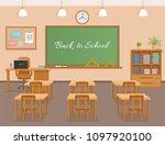 school classroom with... | Shutterstock .eps vector #1097920100