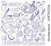 natural food icons | Shutterstock .eps vector #109792226