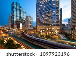 bangkok skyline at the central... | Shutterstock . vector #1097923196