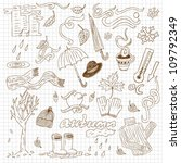 Autumn Hand-drawn doodle set