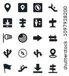 set of vector isolated black... | Shutterstock .eps vector #1097928200
