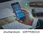 data protection with a secure... | Shutterstock . vector #1097930213