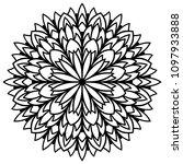 vector mandala for coloring... | Shutterstock .eps vector #1097933888
