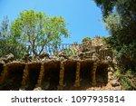 gaudi park in barcelona  details | Shutterstock . vector #1097935814