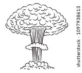 comic style nuclear explosion... | Shutterstock .eps vector #1097938613
