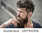 man with beard and mustache... | Shutterstock . vector #1097942906