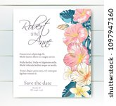 vector delicate invitation with ... | Shutterstock .eps vector #1097947160