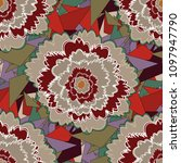 floral seamless pattern. red ... | Shutterstock .eps vector #1097947790