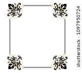 vintage baroque victorian frame ... | Shutterstock .eps vector #1097950724