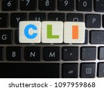 Small photo of Word CLI (Command Line Interface) on keyboard background