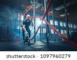 men with battle rope battle... | Shutterstock . vector #1097960279