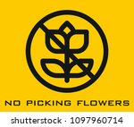 no picking flowers icon | Shutterstock .eps vector #1097960714