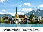 tegernsee lake in bavaria  ... | Shutterstock . vector #1097961593