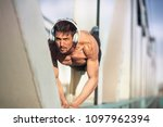 fit shirtless male doing push...   Shutterstock . vector #1097962394