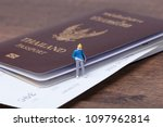 miniature people with thailand... | Shutterstock . vector #1097962814