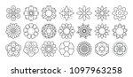 flower line icon set. vector... | Shutterstock .eps vector #1097963258